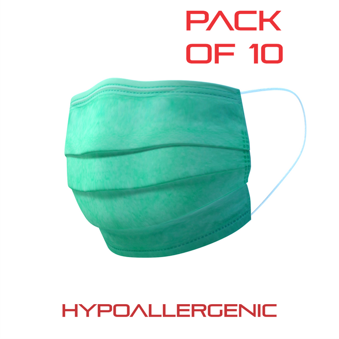 Pack of 10 Hypoallergenic surgical Face Masks (MA-3758)