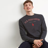 US ASSN Men Sueded Graphic Sweatshirt  (US-1548)