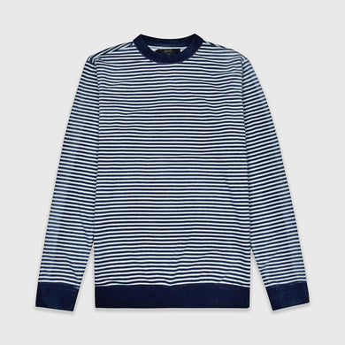 Gradient Lines Distressed Wash Sweatshirt (AC-1738)