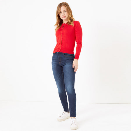 Women Mid rise Skinny stretch Jeans (MN-5508)