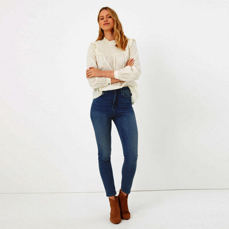 Women Mid rise Skinny stretch Jeans (MN-5509)