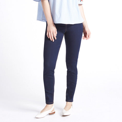 Girls High Waisted Super Stretchy blue Jeggings  (DK-5252)