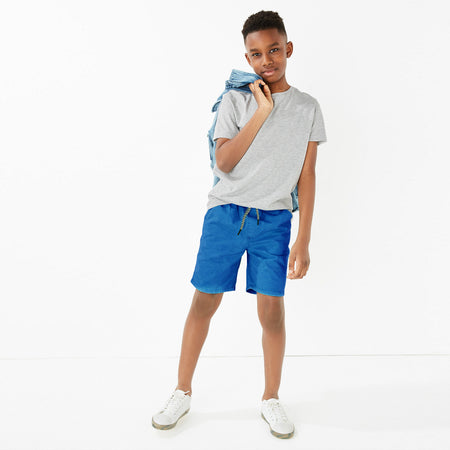 RE Boys Ocean Blue Pure weaved cotton poplin Rugby shorts (RE-5067)