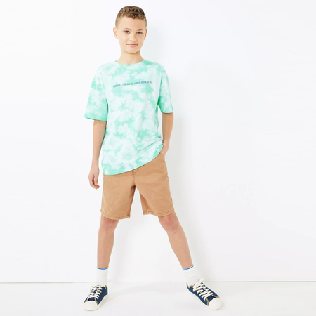 RE Boys Lt. Brown Pure weaved cotton poplin Rugby shorts  (RE-5066)