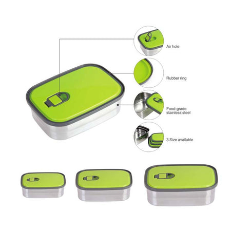 Tedemei Green Stainless Steel Lunch Box