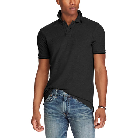 IDNTC Charcoal  Tipped Collar Polo Shirt (ID-2336)