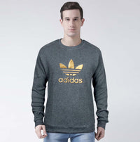 Men Crew Neck Thermal Sweatshirt with 3D Embossed Logo (AD-11149)