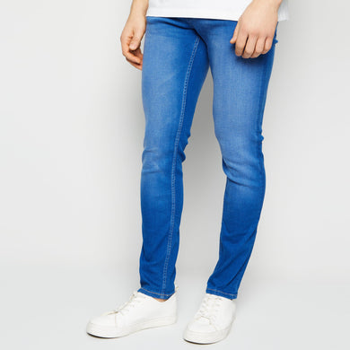 Bright Blue Mid Wash Skinny Stretch Jeans (NE-1481)