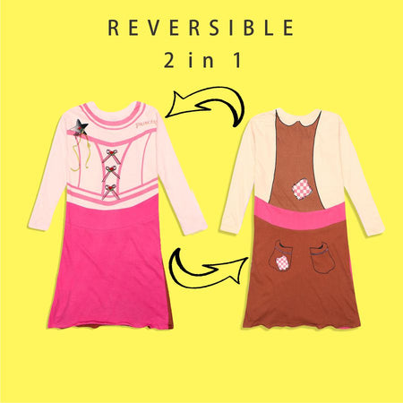 Lazywear Girls Reversible Printed Dress (LW-5163)