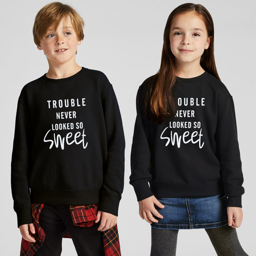 TAL Kids Black Slogan Printed Sweatshirt  (TP-10236)