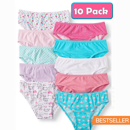 Pack of 10 Wonder Nation Super Comfortable Hipster Panties (11493)