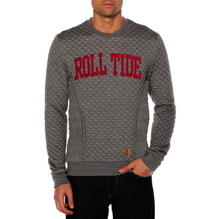 Quilted Collage State Applique Sweat Shirt