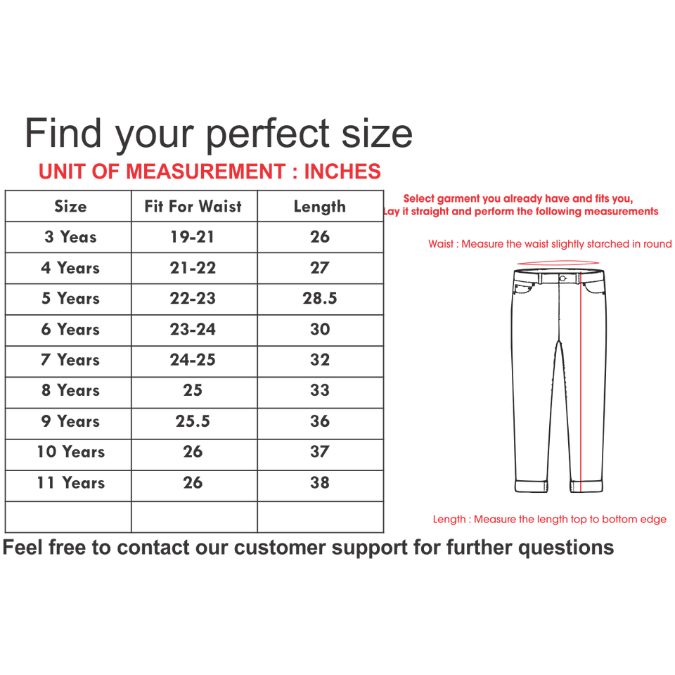 Kids Cotton stretch Pants with Adjustable Waistband (SE-5510)