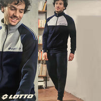 Navy Ltto Super Soft Signature print Jogging Suite (LO-10011)