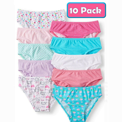 Pack of 10 Wonder Nation Super Comfortable Hipster Panties (WO-1614)