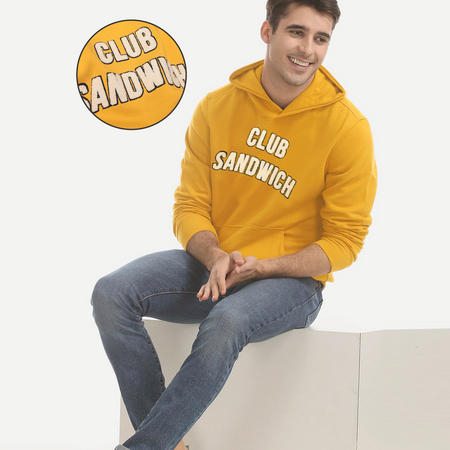 Men Premium Soft Heavy Fleece Applique Embroidered Hoodie (SW-10623)
