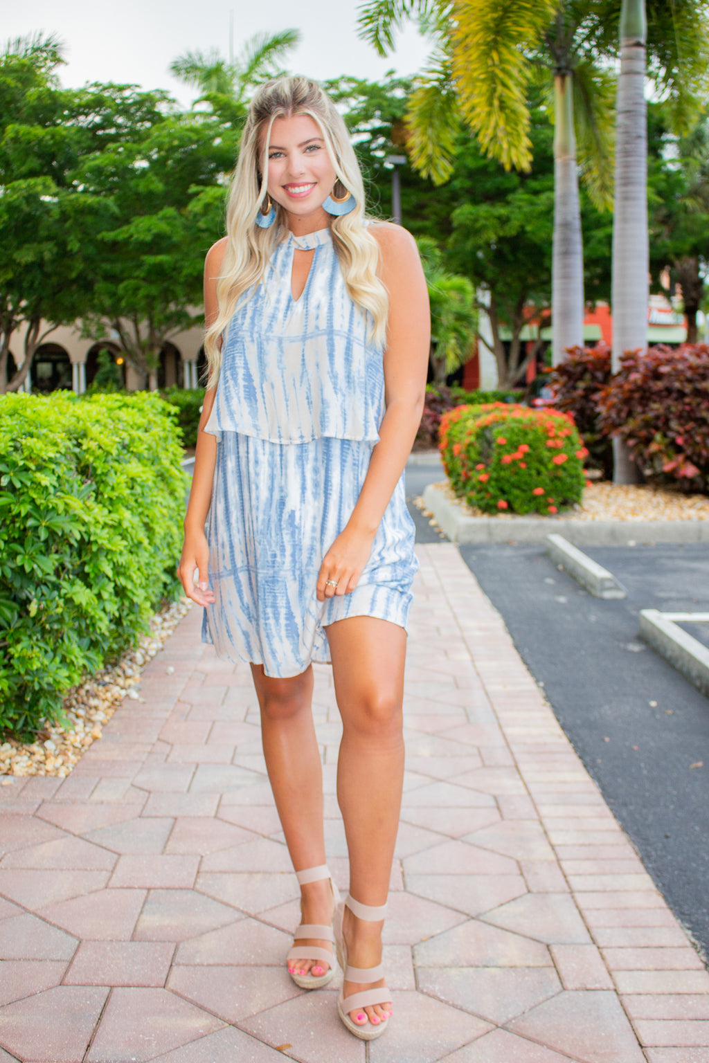 Tie Dye Layered Dress