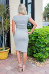 Kint Bodycon Midi Dress