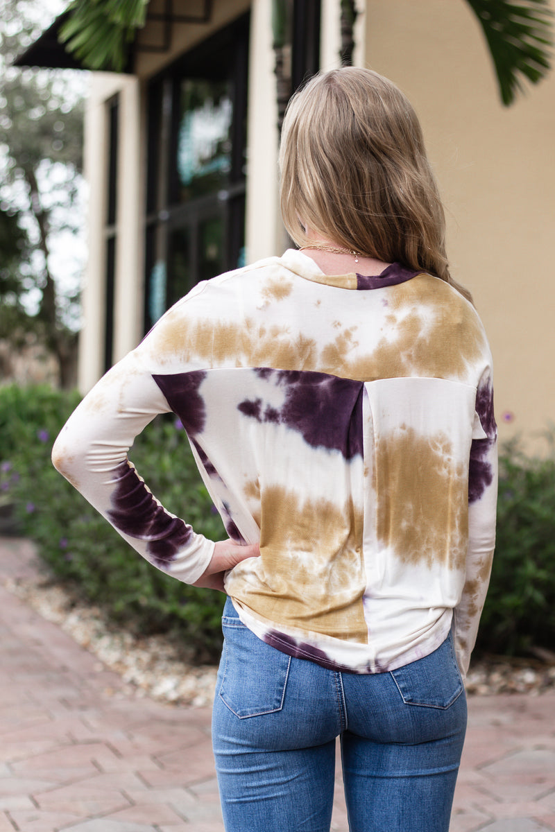 Use Your Voice Tie Dye Top