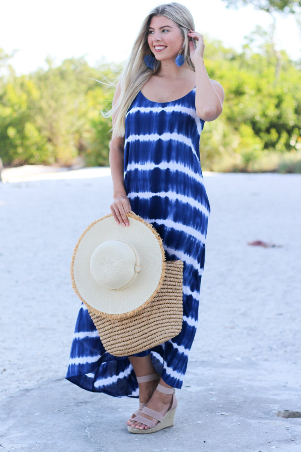 Back in My Heart Tie Dye Maxi Dress - Hollie's Boutique
