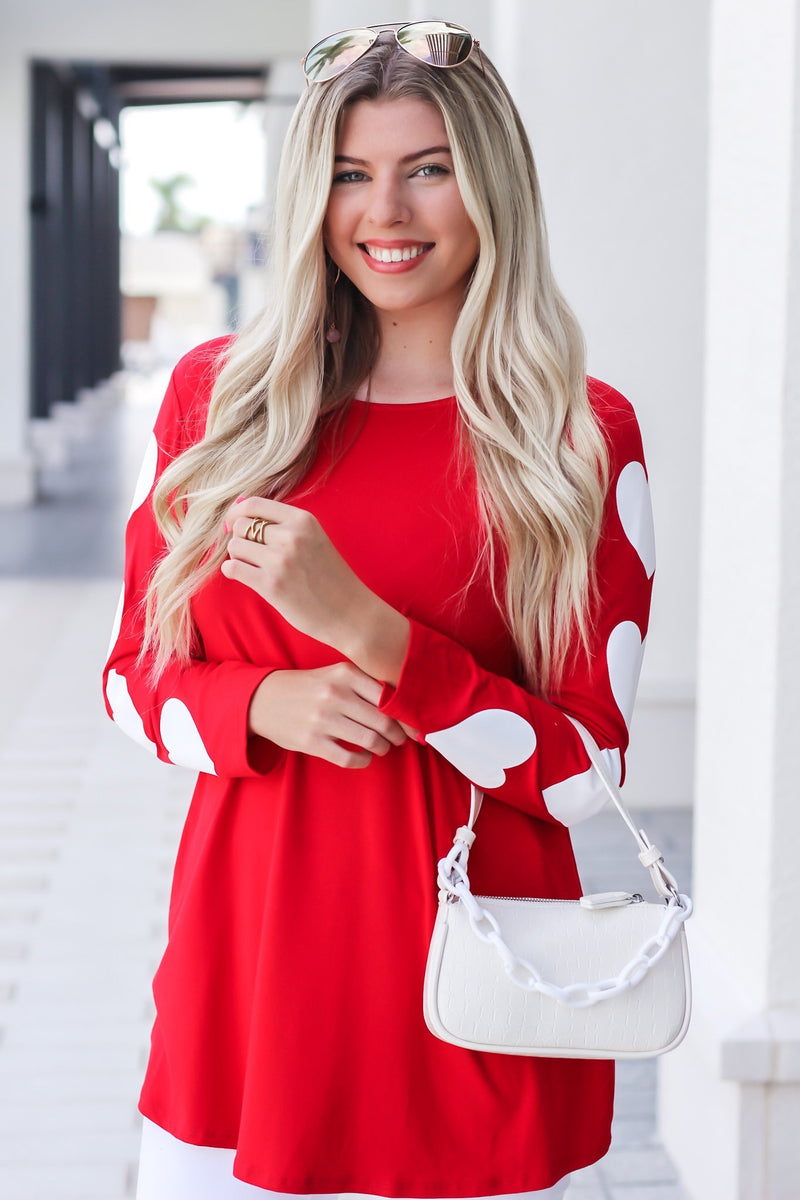 Be My Valentine Long Sleeve Top - Hollie's Boutique