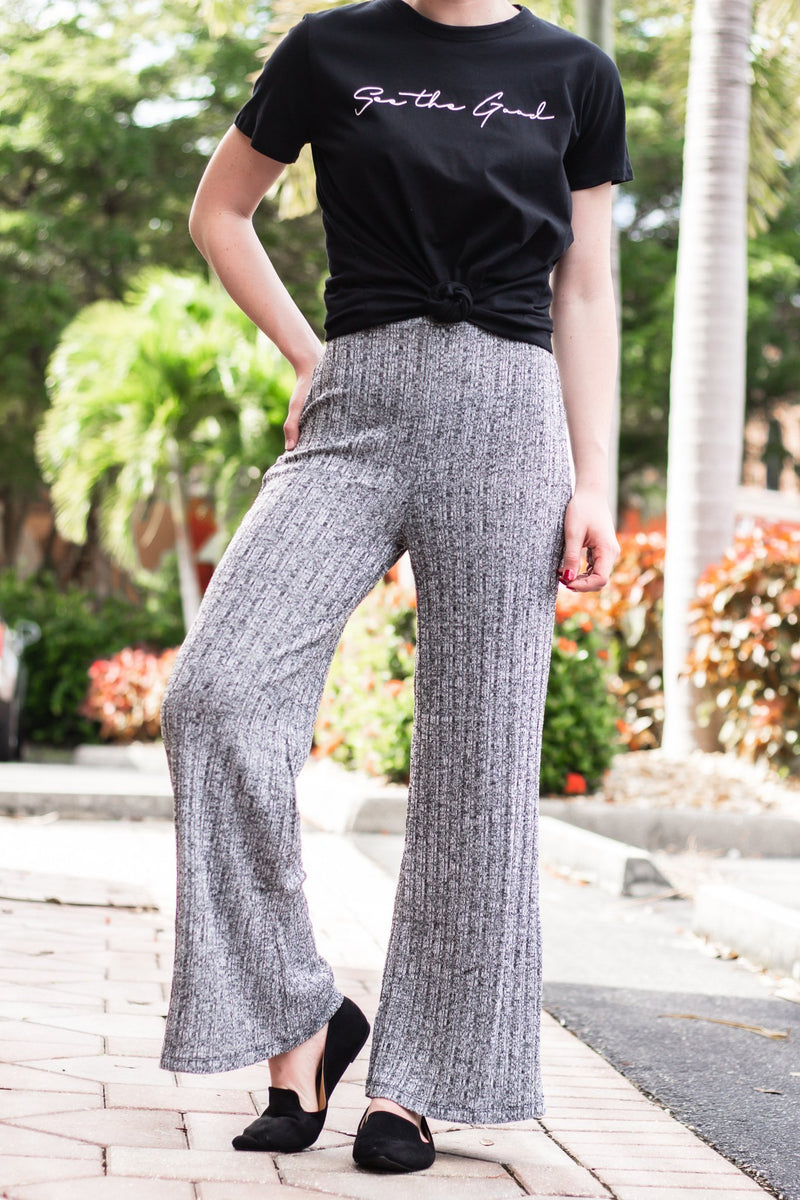 Believe Without Seeing Ribbed Pants - Hollie's Boutique