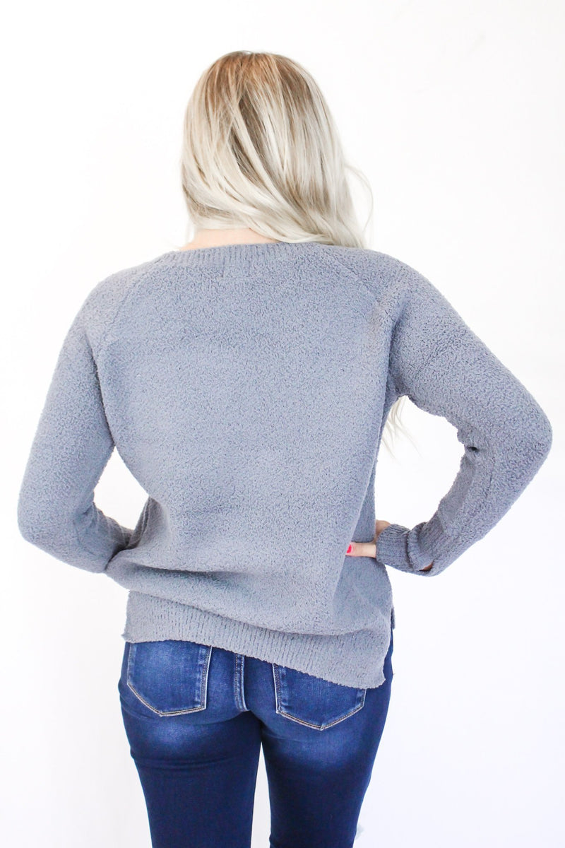 Can't Get Over You Knitted Sweatshirt - Hollie's Boutique