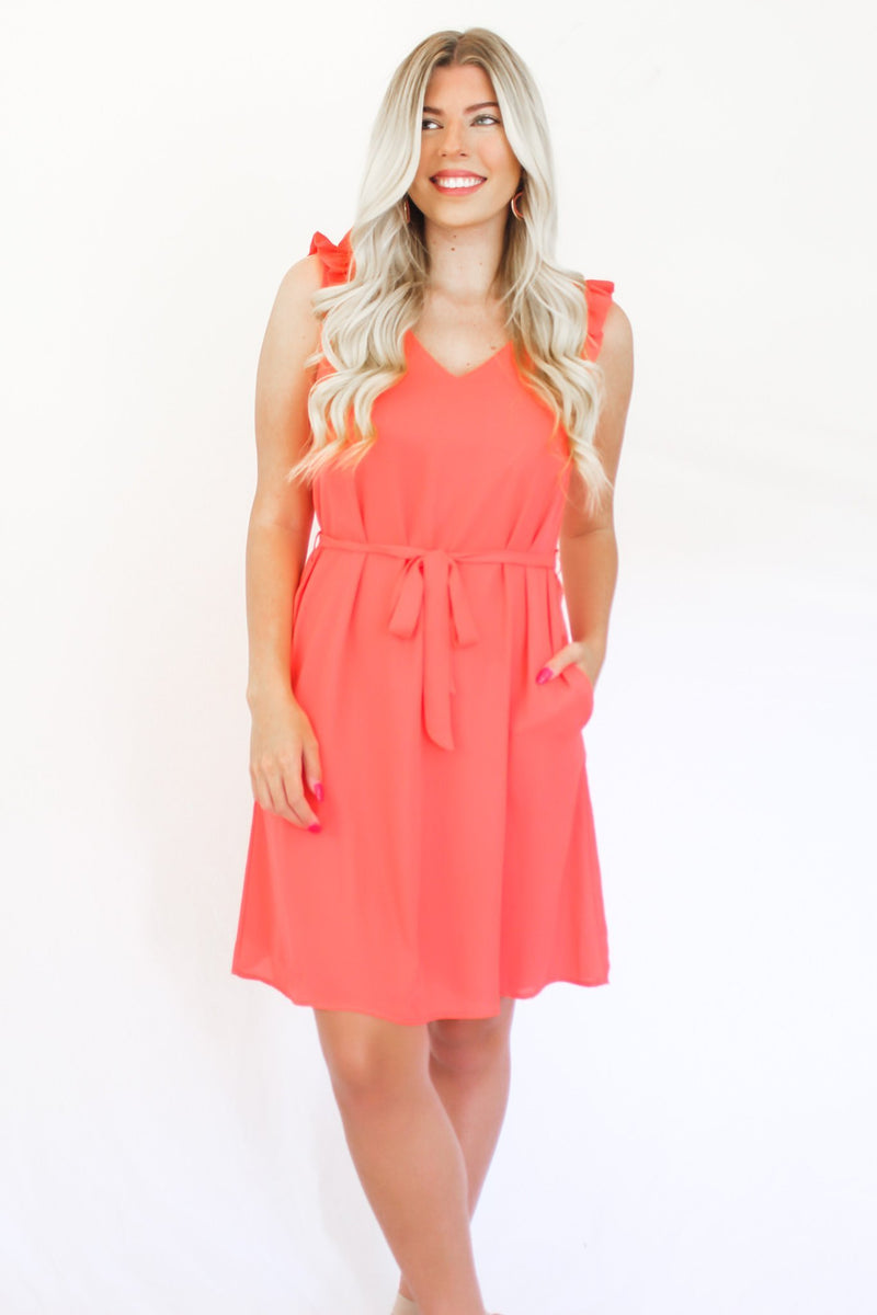 Can't Help Falling In Love Ruffle Dress - Hollie's Boutique
