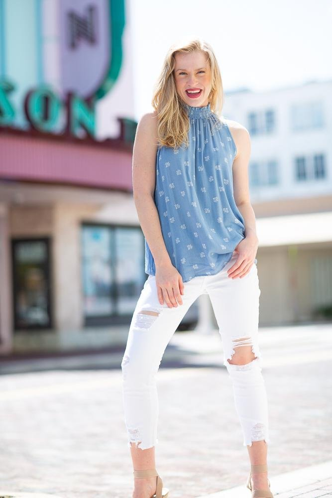 Carry On Mock Neck Top - Hollie's Boutique