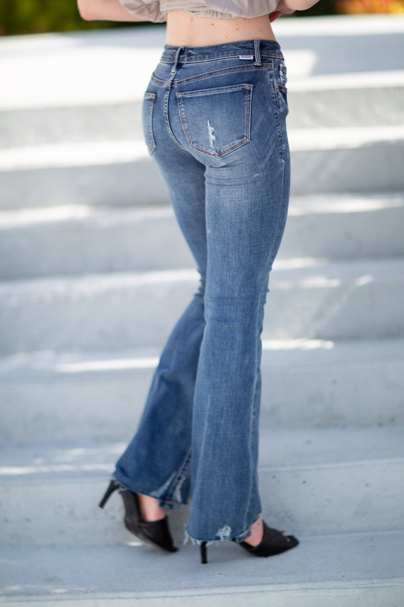 Copy of Dear John Rosie Mid Rise Bootcut Jeans - Hollie's Boutique