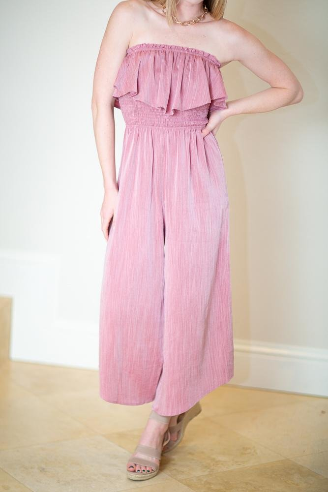 Easy Days Wide Leg Jumpsuit - Hollie's Boutique