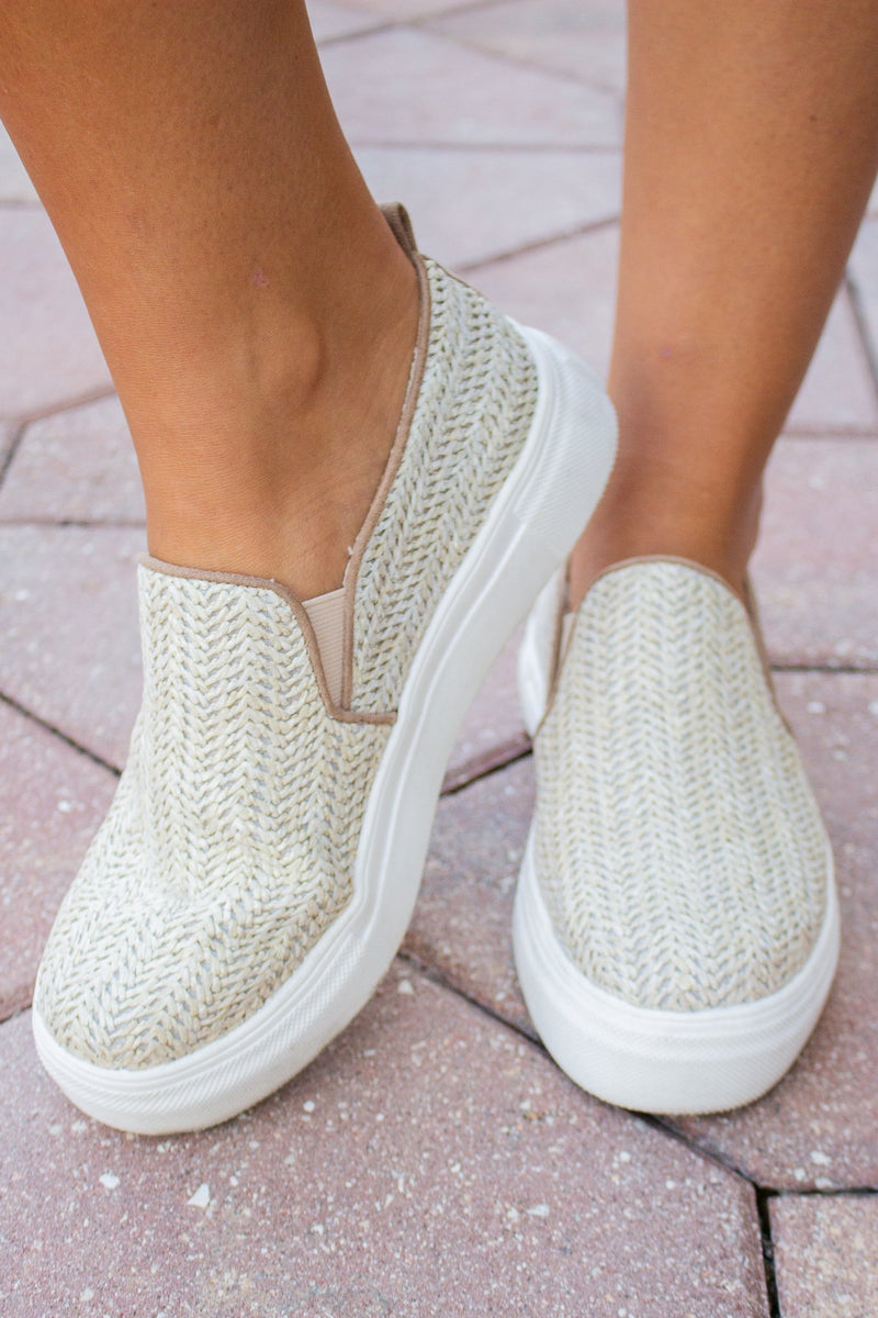 Ela Natural Wedge Sneaker - Hollie's Boutique