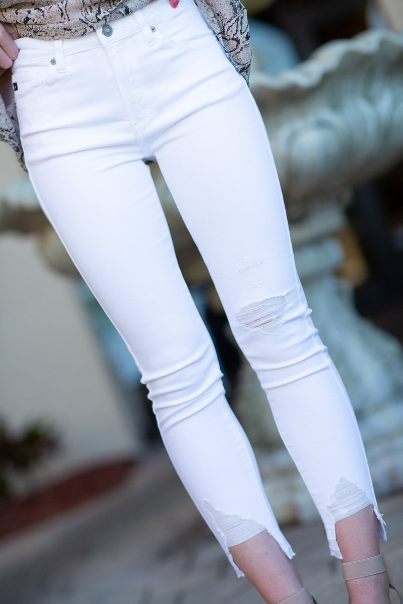 Eyes On You White Denim - Hollie's Boutique