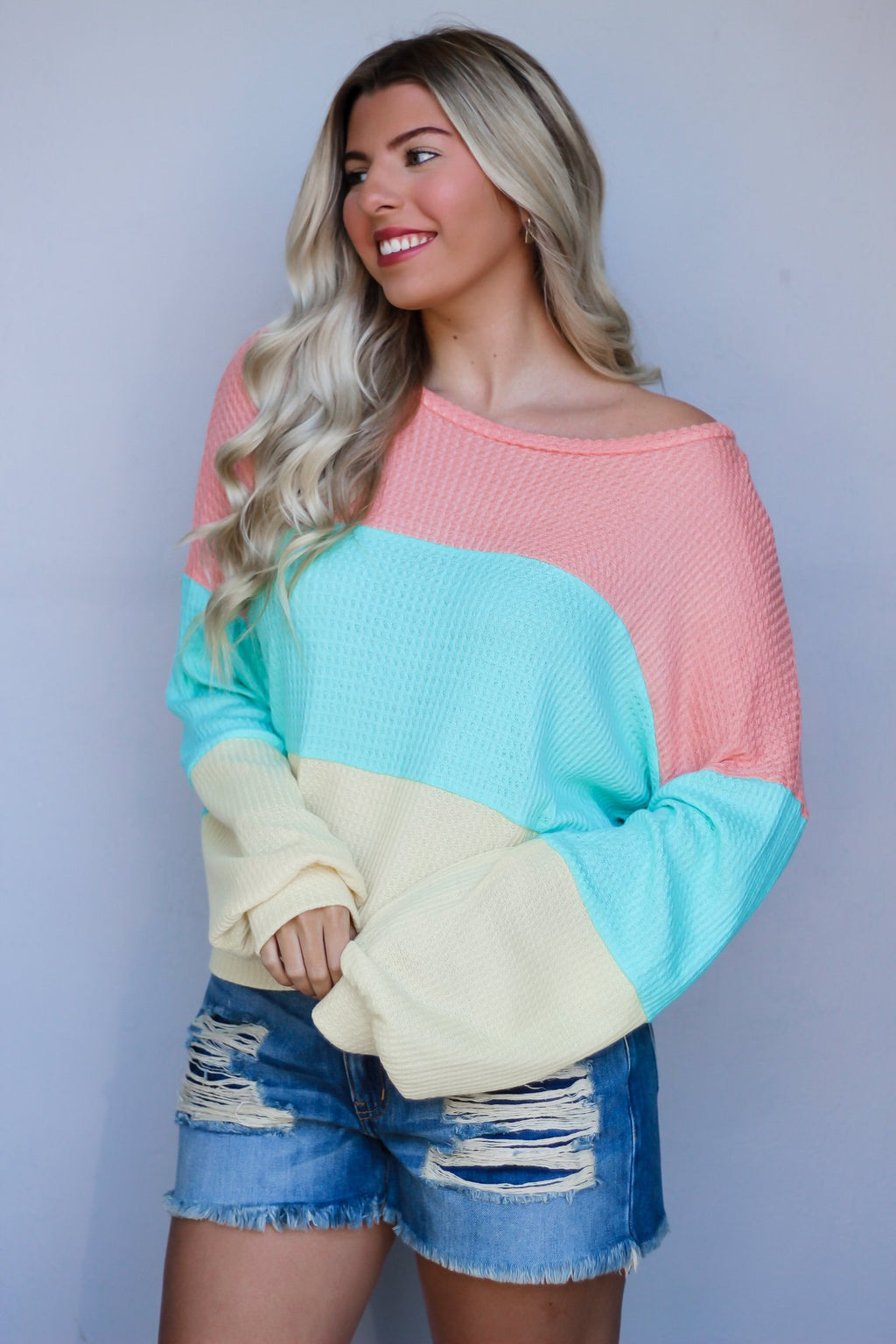 Go Better Together Color Block Top - Hollie's Boutique
