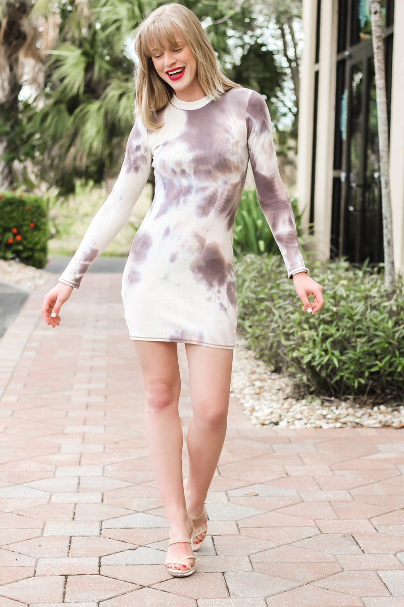 Great Timing Mock Cutout Dress - Hollie's Boutique