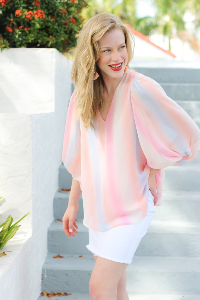 Hold You Close Ombre Blouse - Hollie's Boutique