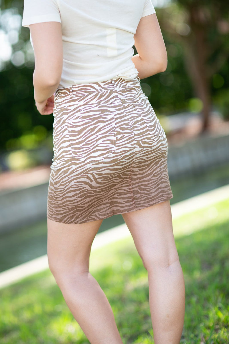 I Could Use A Love Song Animal Print Skirt - Hollie's Boutique