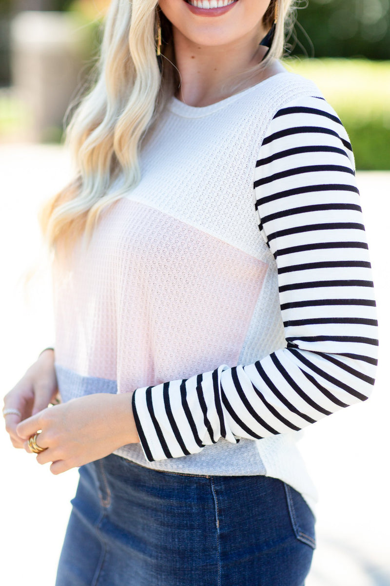 I Hope Colorblock Top - Hollie's Boutique