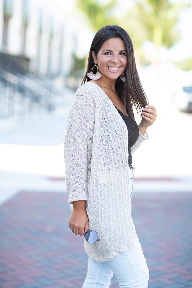 I'm Here For You Open Knit Cardigan - Hollie's Boutique
