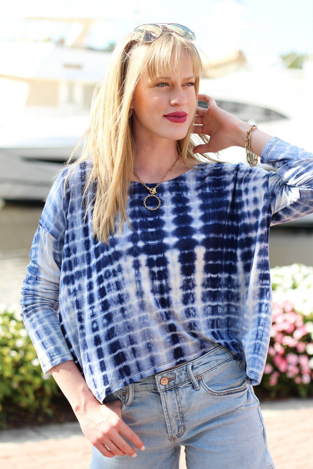 Keep On Hoping Boxy Tie Dye Top - Hollie's Boutique