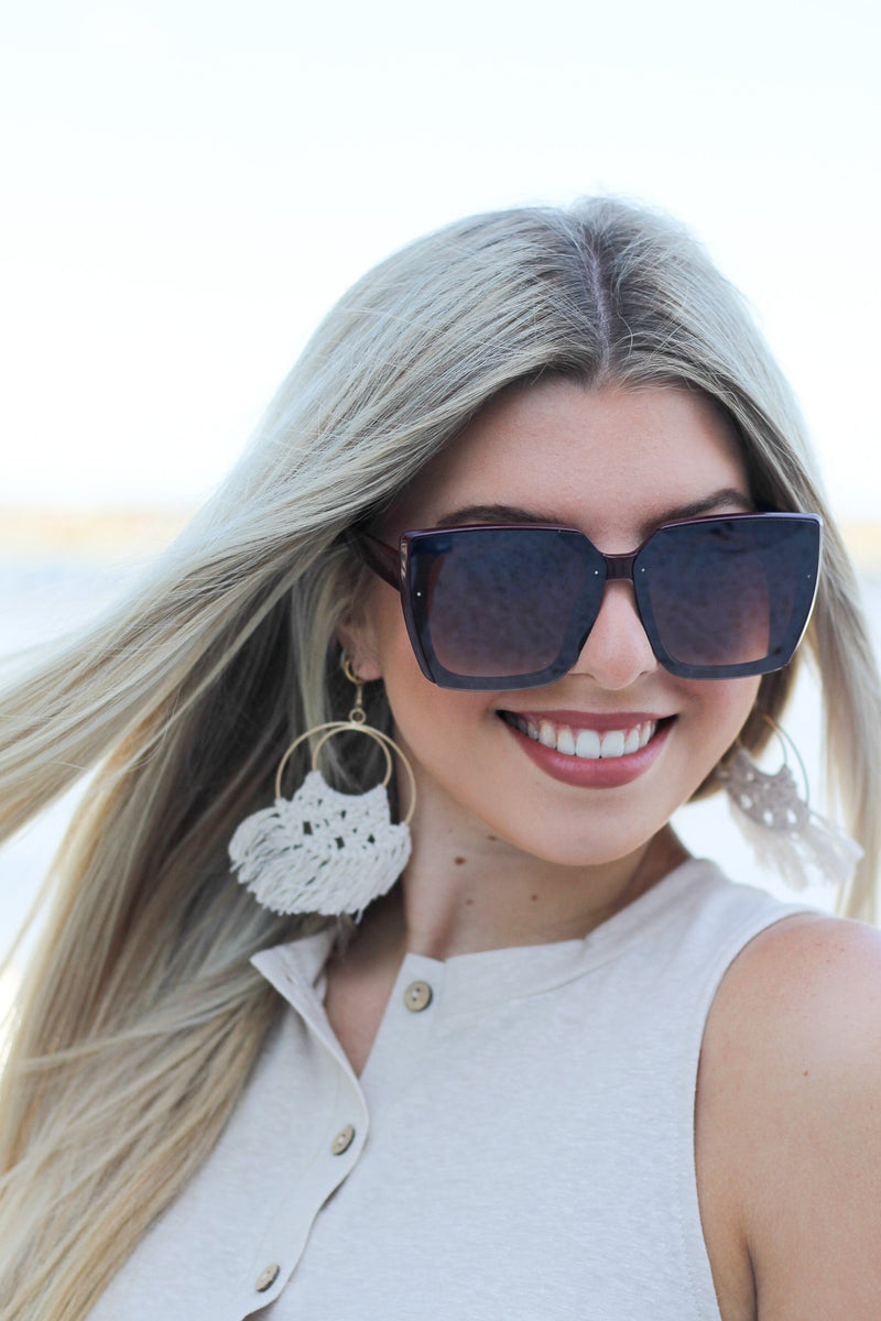Large Square Sunglasses - Hollie's Boutique