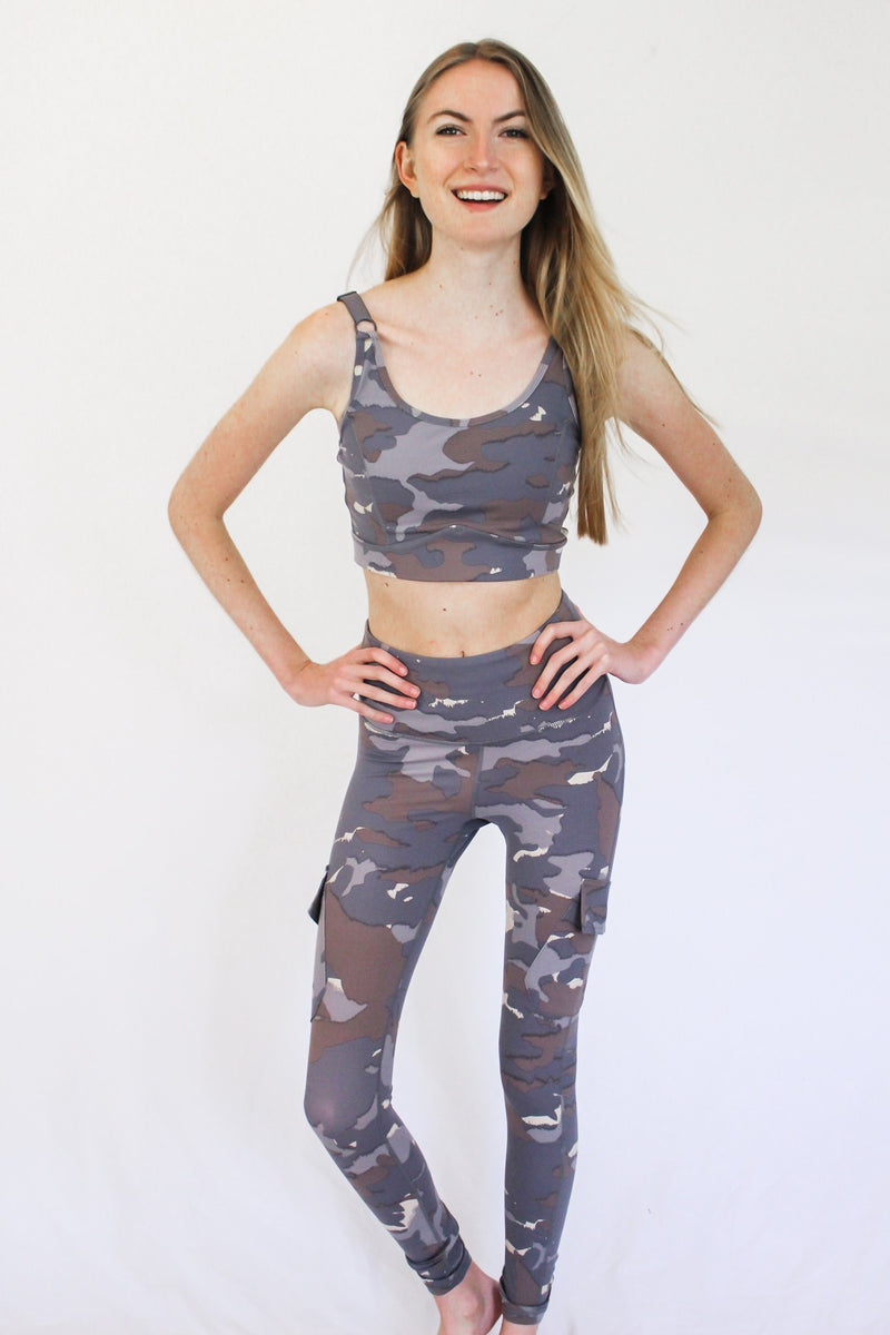 Let's Get Moving Camo Sports Bra - Hollie's Boutique