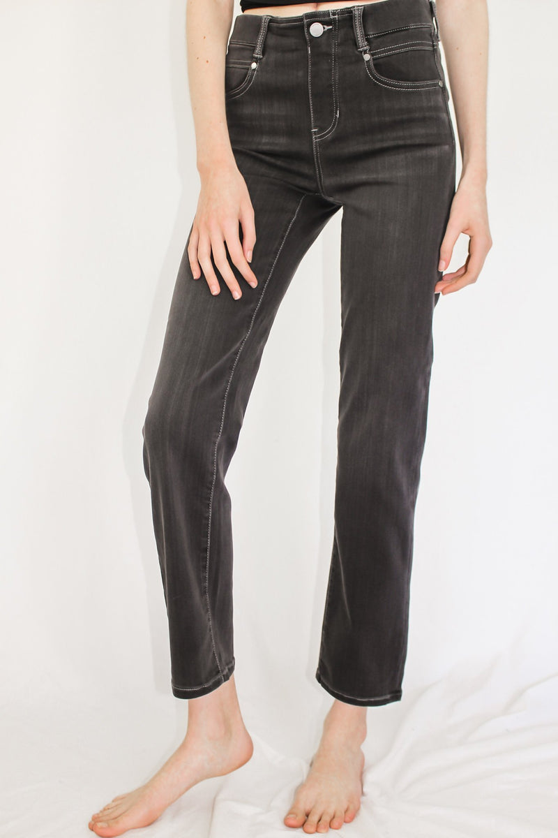 Liverpool Abby Skinny- Black Rinse - Hollie's Boutique
