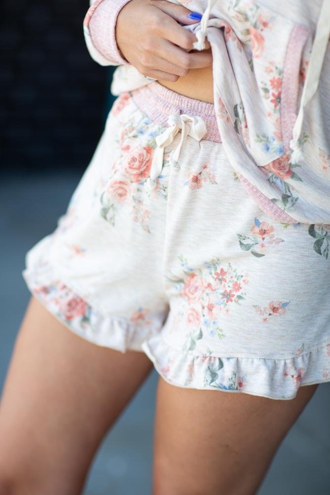 Living My Dream Ruffle Hem Shorts - Hollie's Boutique