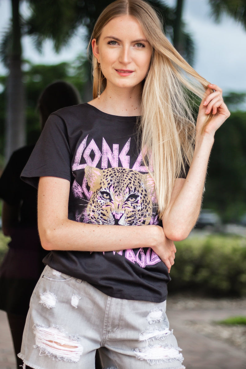 Long Live Cheetah Graphic Tee - Hollie's Boutique