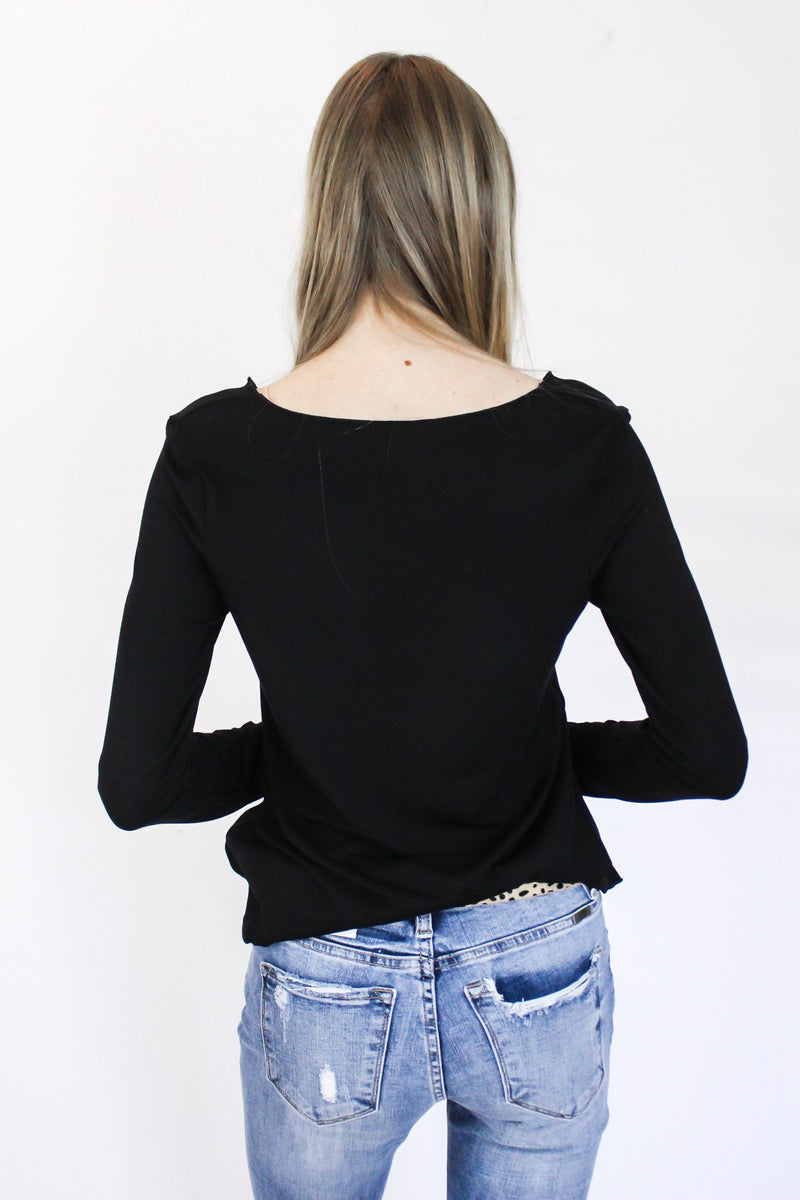 More Of You Long Sleeve V-Neck - Hollie's Boutique