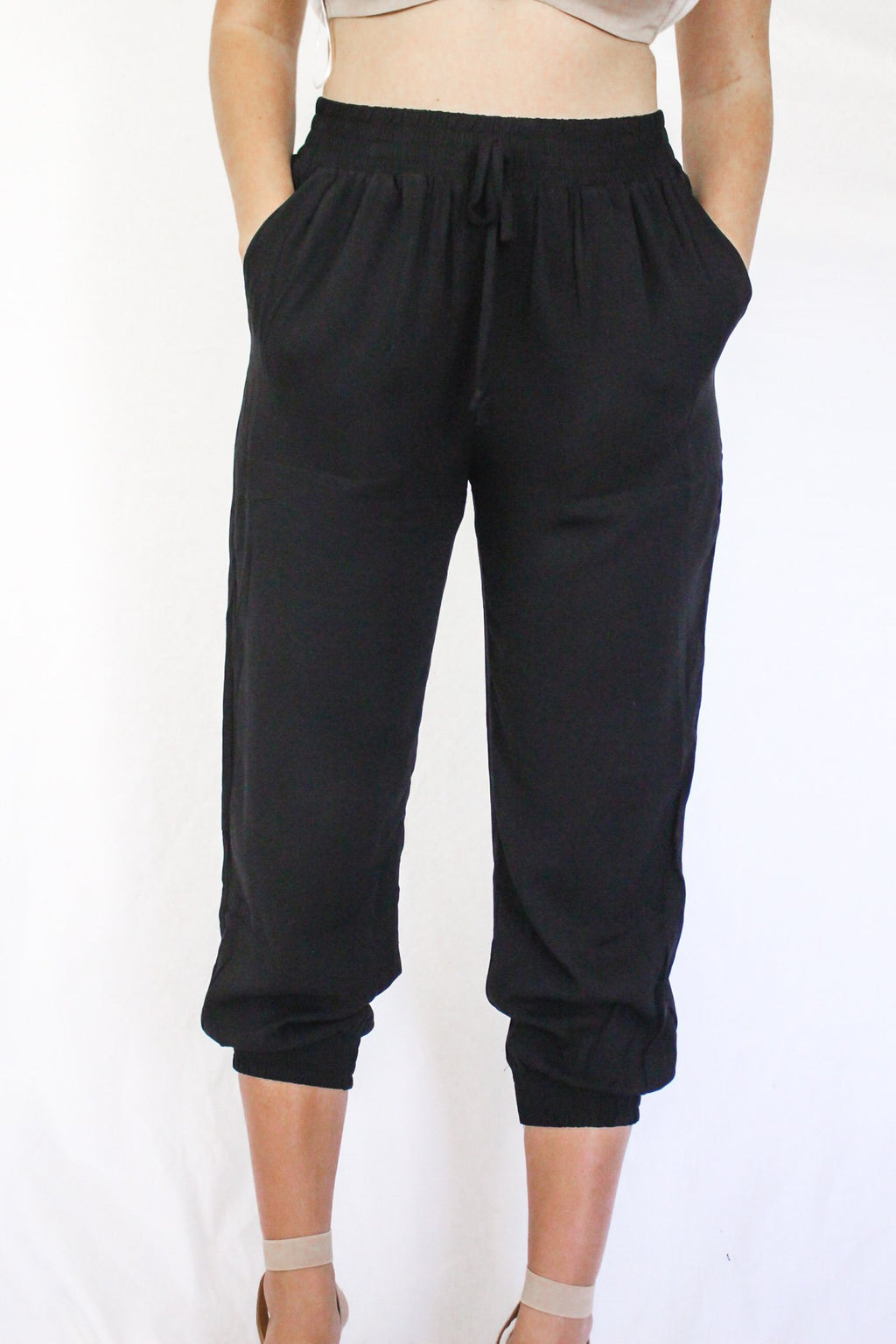 One Time Only Jogger Pants Black - Hollie's Boutique