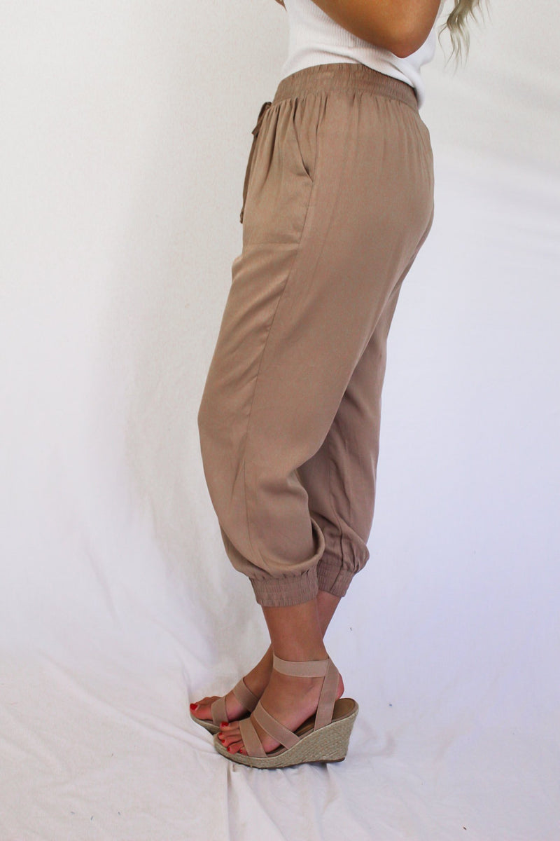 One Time Only Jogger Pants Khaki - Hollie's Boutique