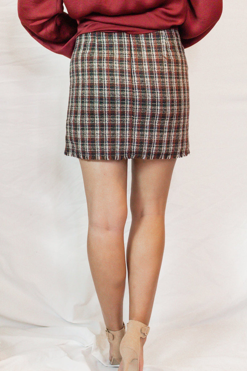 Paperback Writer Plaid Skirt - Hollie's Boutique