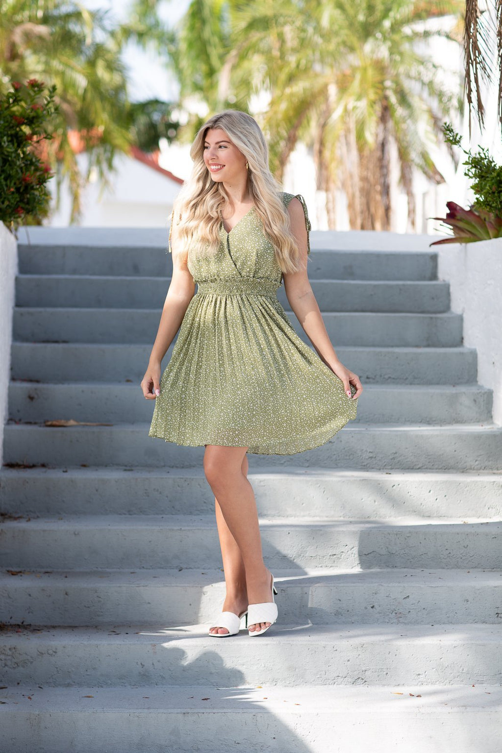 Picture Perfect Surplice Skirt Dress - Hollie's Boutique
